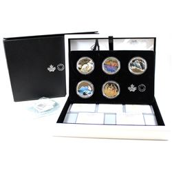 RCM Issue: 2016-2017 Canada $20 Landscape Illusion Complete Fine Silver 5-coin Set in Deluxe Display
