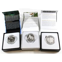 RCM Lot: 2015-2016 Canada $100 for $100 Series Fine Silver Collection. You will receive the 2015 Mus
