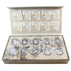 RCM Issue: 2014-2015 Canada $15 Exploring Canada Complete Fine Silver 10-coin Set in Deluxe Display