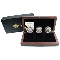 RCM Issue: 2016 Canada $25 Sculptural Art of Parliament Fine Silver 3-coin Set in Deluxe Display Box