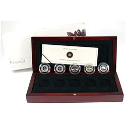 RCM Issue: 2012 Canada 1-cent Farewell to the Penny Fine Silver 5-coin Set. TAX Exempt