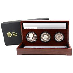 RCM Issue: 2012 The Queen's Diamond Jubilee Royal Sterling & Fine Silver 3-coin Set. This Set featur