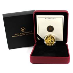 RCM Issue: 2012 Canada $100 Cariboo Gold Rush 150th Anniversary 14K Gold Coin.