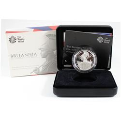 Royal Mint Issue: 2015 Proof 2 Pound 1oz Britannia .999 Fine Silver Coin in All Original Packaging (