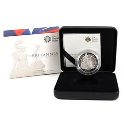 Royal Mint Issue: 2016 Proof 2 Pound 1oz Britannia .999 Fine Silver Coin in All Original Packaging (