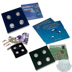 RCM Issue: Lot of 4x Canada 4-coin 50-cent Sterling Silver Coin Sets. You will receive 1995 Canada o