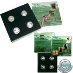 RCM Issue: 1996 LIttle Wild Ones & 1997 Dogs of Canada 4-Coin Sterling Silver Proof 50ct Set (outer