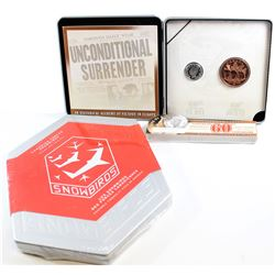 RCM Issue: 2005 Canada 60th Anniversary of VE Day Proof 5-cent and Medallion Set & 2006 $5 Snowbirds