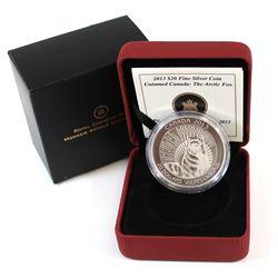 RCM Issue: 2013 Canada $20 Untamed Canada - Arctic Fox Fine Silver Coin (TAX Exempt)