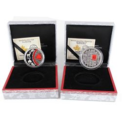 RCM Issue: 2014 Canada 50-cent 100 Blessings of Good Fortune Silver Plated Coin & 2014 $5 Five Bless