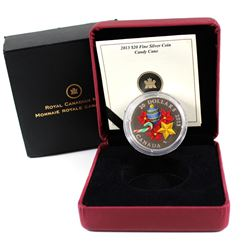 RCM Issue: 2013 Canada $20 Venetian Glass Candy Cane Fine Silver Coin (TAX Exempt) scuffed outer sle