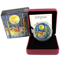RCM Issue: 2017 Canada $30 Animals in the Moonlight - Lynx Fine Silver (Tax Exempt)