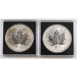 RCM Issue: 2000 Dragon & 2001 Snake Canada $5 Privy Mark Fine Silver Maples (Tax Exempt). Please not