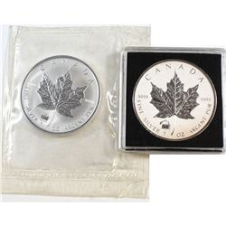 RCM Issue: 1998 & 2012 Canada $5 Titanic Privy Fine Silver Maples (Tax Exempt). Please note 2012 is