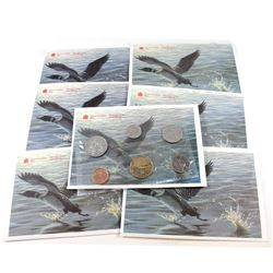 RCM Issue: 1990-1998 Canada Proof Like Sets. You will receive the following dates: 1990, 1992, 1993,