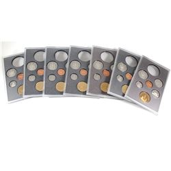 RCM Issue: 1988, 1989, 1990, 1994, 1994 Memorial, 1995, 1995 Peacekeeping Canada Proof 6-coin Sets f