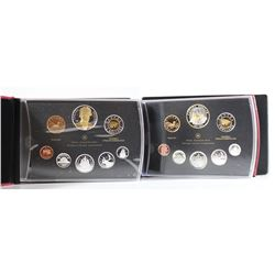 RCM Issue: 2007 & 2011 Canada Proof Double Dollar Sets. Please note outer black cardboard sleeves &