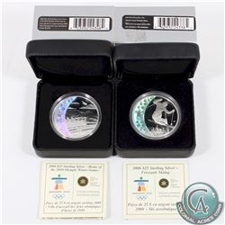 RCM Issue: 2008 $25 Freestyle Skiing & 2008 $25 Home of the 2010 Olympic Winter Games (small residue