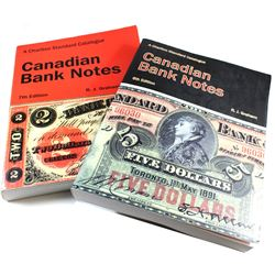 6th Edition & 7th Edition Charlton Catalogue of Chartered Canadian Bank Notes by R.J. Graham. 2 Book