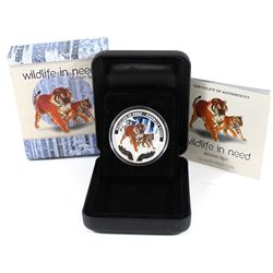 Perth Mint: 2012 Tuvalu $1 Wildlife in Need Siberian Tiger Coloured 1oz Fine Silver Proof Coin. TAX