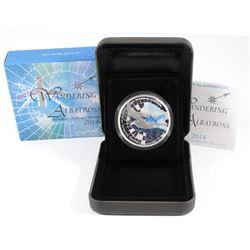 Perth Mint: 2014 Australian Antarctic Territory $1 Wandering Albatross Fine Silver Proof Coin (Tax E