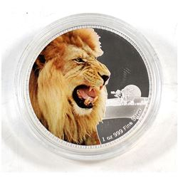 NZ Mint: 2016 Niue $1 Kings of the Continents - African Lion 1 oz. .999 Proof Silver Coin (Tax Exemp