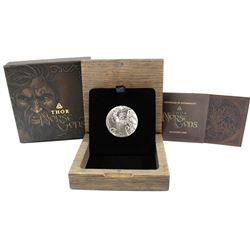 Perth Mint: 2016 Tuvalu $2 Norse Gods - Thor 2 oz. High Relief Antique Finish Coin (Tax Exempt)