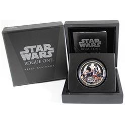 NZ Mint: 2017 Niue $2 Star Wars: Rogue One - Rebel Alliance 1oz. Silver (no Tax)