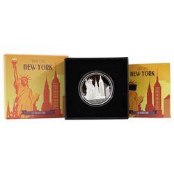 NZ Mint: 2017 Niue $2 Great Cities - New York City Fine Silver (TAX Exempt)