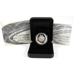 Perth Mint: 2015 Australia $1 White Mother of Pearl Shell Silver Proof (Tax Exempt)