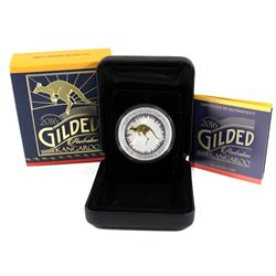 Perth Mint: 2016 Australia $1 Gilded Kangaroo Silver Proof Coin (Tax Exempt)