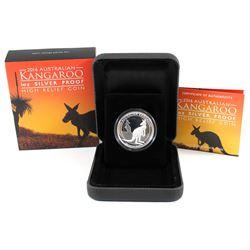 Perth Mint: 2016 Australia $1 High Relief Kangaroo 1 oz. Silver Coin (TAX Exempt)