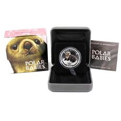 Perth Mint: 2017 Tuvalu 50-cent Polar Babies - Sea Otter 1/2oz. Silver (Tax Exempt)