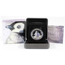 Perth Mint: 2017 Tuvalu 50-cent Polar Babies -Emperor Penguin 1/2oz Silver (Tax Exempt)