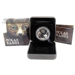 Perth Mint: 2017 Tuvalu 50-cent Polar Babies - Arctic Fox 1/2oz. Silver (Tax Exempt)