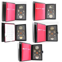 RCM Issue: 1984-1988 Canada Proof Double Dollar Sets. You will receive one of each Set Issued from 1