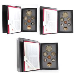 RCM Issue: 1992, 1993, 1994 Canada Proof Double Dollar sets. Please note coins may be toned. 3 sets.