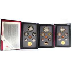 RCM Issue: 1989, 1990, 1991 Canada Proof Double Dollar sets. Please note coins may be toned. 3 sets.