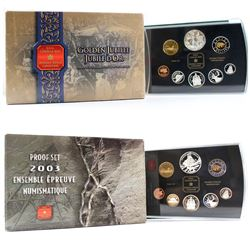 RCM Issue: 2002 and 2003 Canada Proof Double Dollar sets. Please note coins may contain toning and o