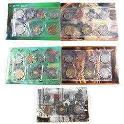 RCM Issue: 2000-2004 Canada Uncirculated Proof Like Sets. You will receive 2000 Winnipeg, 2001P With