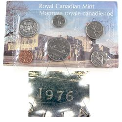 RCM Issue: 1976 Canada Uncirculated Proof Like Set with Doubling Error. The Dollar contains doubling