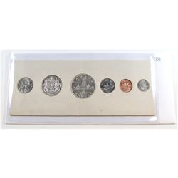 1953 Canada Uncirculated Mint Set in original white cardboard. Coins may be toned.
