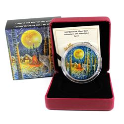 RCM Issue: 2017 Canada $30 Animals in the Moonlight - Lynx Fine Silver Coin (Tax Exempt)