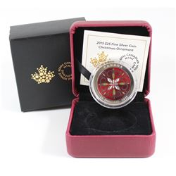 RCM Issue: 2015 Canada $25 Christmas Ornament Fine Silver Coin (TAX Exempt)