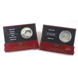 RCM Lot: 2006 Canada $20 Tall Ships - The Ketch & 2006 $20 Architectural Treasures - CN Tower Fine S