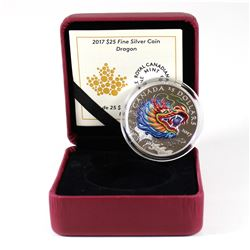 RCM Issue: 2017 Canada $25 Dragon Boat Festival Fine Silver Coin (missing outer sleeve). TAX Exempt