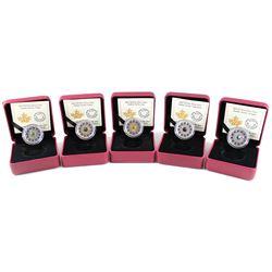 RCM Lot: 5x 2017 Canada $3 Zodiac Series Fine Silver Coins - Virgo, Libra, Leo, Scorpio & Capricorn