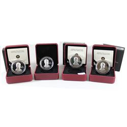 RCM Lot: 4x 2011 Canada $15 H.R.H. Prince William of Wales Ultra High Relief Sterling Silver Coins.