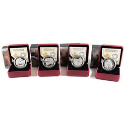RCM Lot: 4x 2015-2016 Canada $20 Grizzly Bear Series Fine Silver Coins. You will receive 2015 Togeth