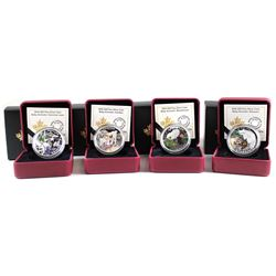 RCM Lot: 4x 2016 Canada $20 Baby Animals Fine Silver Coins. You will receive The Caribou, Common Loo